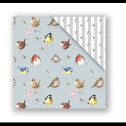Wrendale Garden Birds Gift Wrap Paper - Double Sided