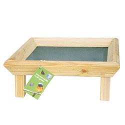 Square Wooden Ground Feeding Table
