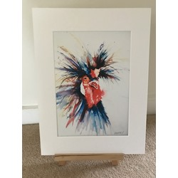 Crazy Bird - Watercolour Print
