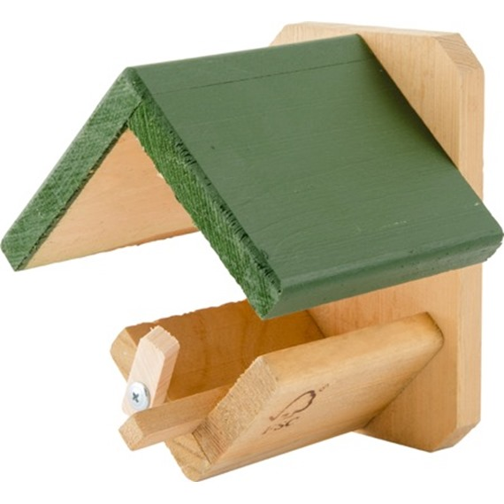 Green Roof Wooden Peanut Butter Feeder