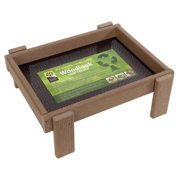 Ground Feeding Tray - Weathered Wood Effect