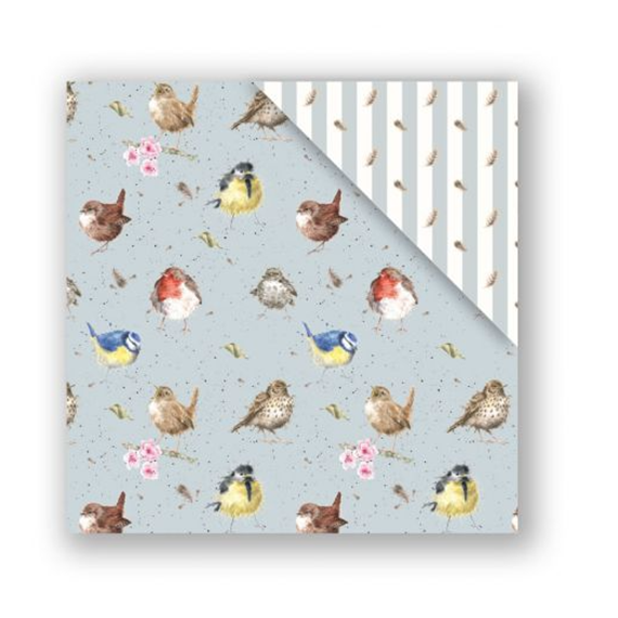 Garden Birds Gift Wrap Paper - Double Sided