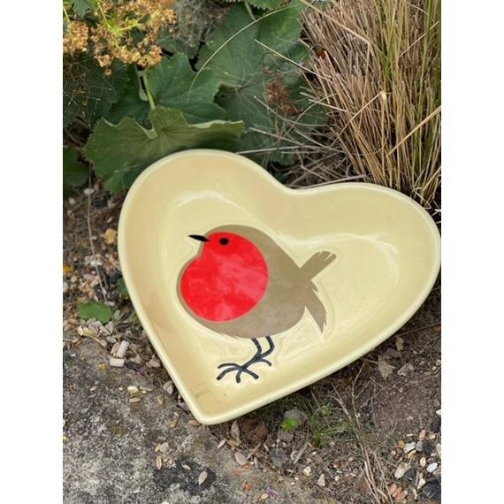 I Love Robins Dish