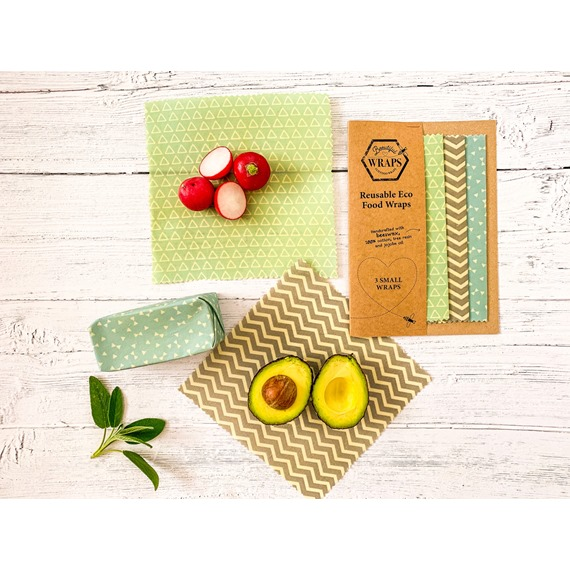 3 Small Beeswax Wraps