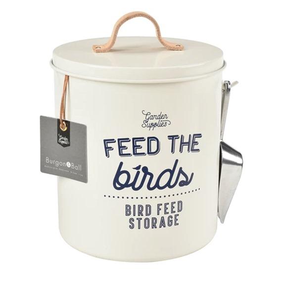 'Feed the Birds' Bird Food Tin with Handy Seed Scoop