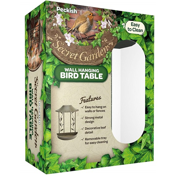 Secret Garden Wall Hanging Bird Table