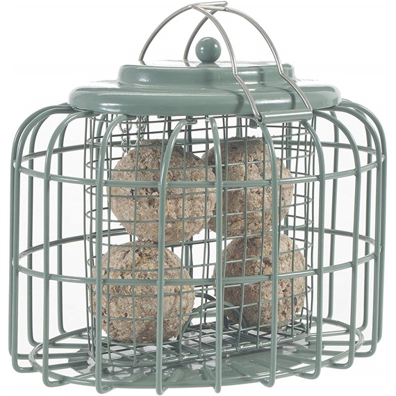 Nuttery Oval Caged Feeder for Suet Feasts or Fatballs