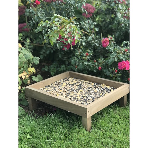 Simple Wooden Ground Feeder Tray