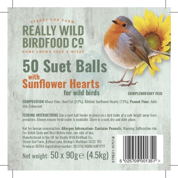 Super Suet Fatballs with Sunflower Hearts