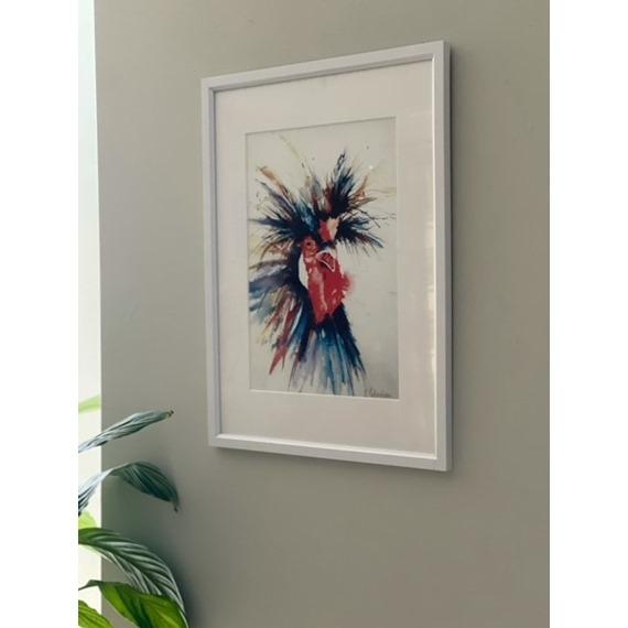 Crazy Bird - Watercolour Print and Cards