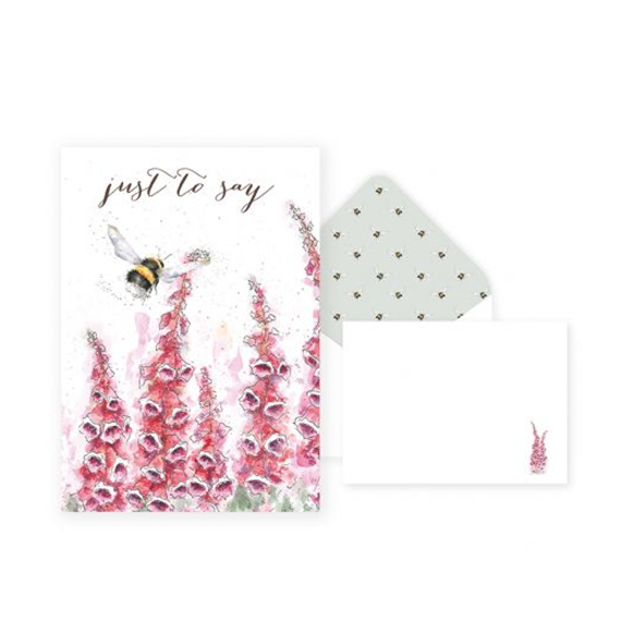 Wrendale Just to Say Thank You - Packs of 8 cards