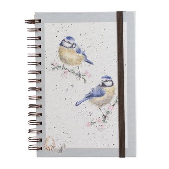 Wrendale A5 Spiral Bound Notebook - Bluetits