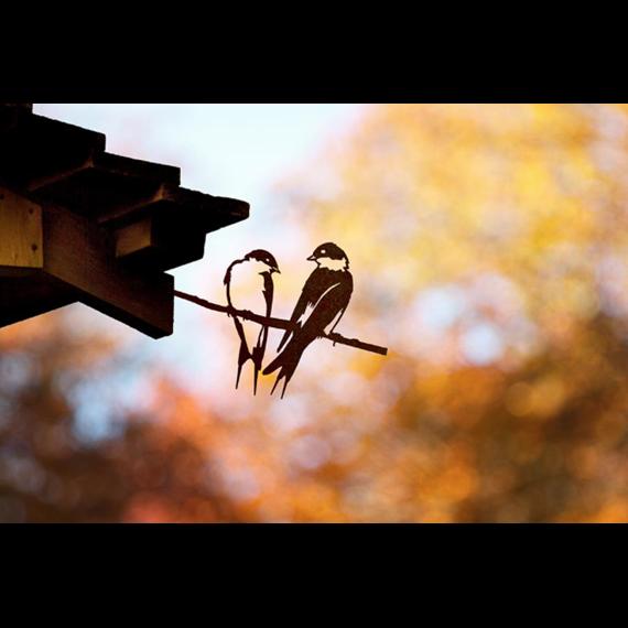 Metal Bird - Pair of Swallows