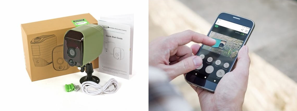 Wireless wildlife observation camera with smartphone app