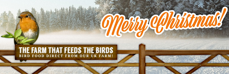mery christmas from really wild bird food
