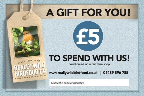 Bird food gift voucher