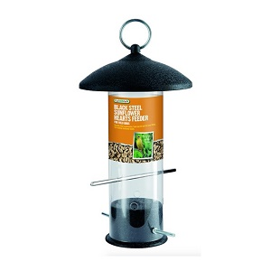 Black Steel Sunflower Hearts Bird Feeder